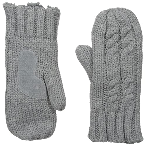 3ba6930f8 isotoner Women's Chunky Cable Knit Cold Weather Mittens with Warm, Soft  Lining