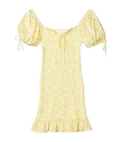 LOST + WANDER Sweet Summer Daze Mini Dress (Yellow/White Floral) Women