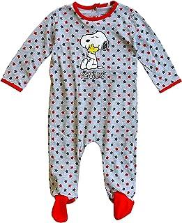 Baby Jungen Snoopy Peanuts Stars Overall Schlafanzug Strampler Größen Von 3 Sich 24 Monate