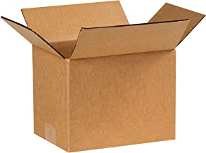 """Partners Brand P866 Corrugated Boxes, 8""""L x 6""""W x 6""""H, Kraft (Pack of 25)"""