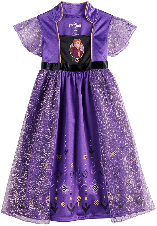 sale Disney Girls' Frozen Fantasy Nightgown Pajam Princess Elsa Spasm price Dress