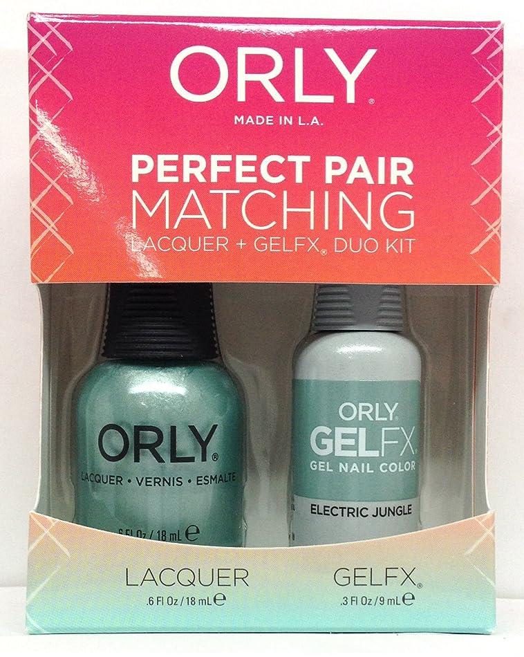 暫定の依存する実施するOrly - Perfect Pair Matching Lacquer+Gel FX Kit - Electric Jungle - 0.6 oz / 0.3 oz