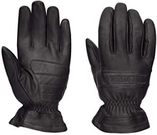 Men's Commute Leather Gloves, Black