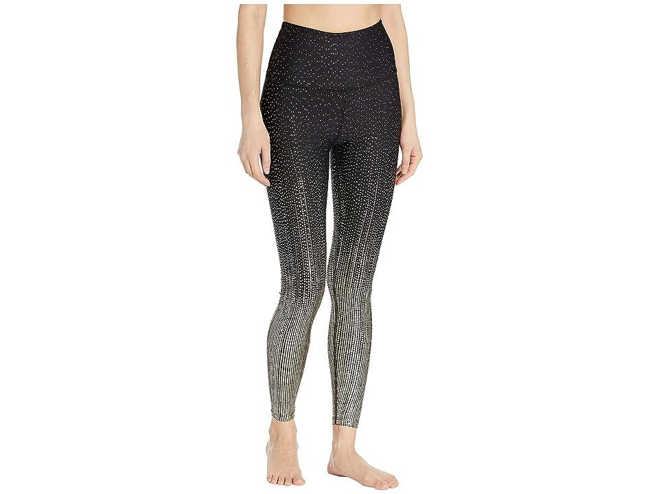 Beyond Yoga Drip Drop High-Waisted Midi Leggings (Black/Antique Gold Drip Drop) Women
