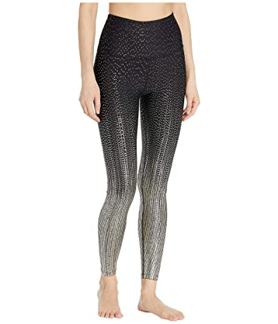 Beyond Yoga Drip Drop High-Waisted Midi Leggings (Black/Antique Gold Drip Drop) Women