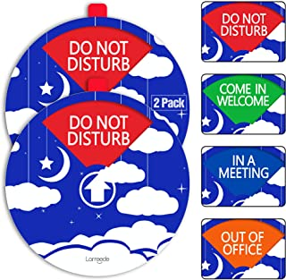 """Privacy Sign For Office Door Sign, 2 Pack 4"""" Do Not Disturb Sign, Come In Welcome Sign, Out Of Office Sign, In A Meeting S..."""