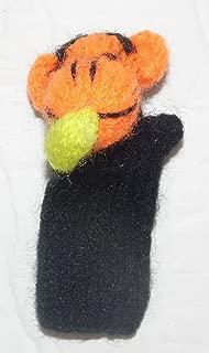 Monkey with Banana Finger Puppet From Peru Handmade Alpaca Wool