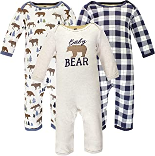 Hudson Baby Kombinezon dziecięcy Uniseks - niemowlęta Hudson Baby Unisex Baby Cotton Coveralls, Moose Bear