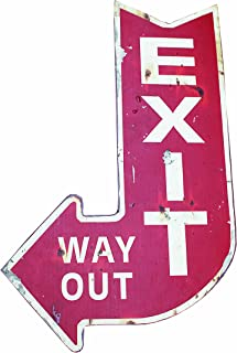 Creative Co-op Urban Homestead Metal Exit, Way Out Plaque