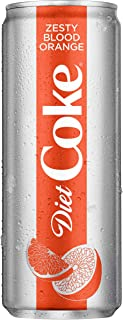 Diet Coke Zesty Blood Orange Soda Soft Drink, 12 fl oz, 8 Pack