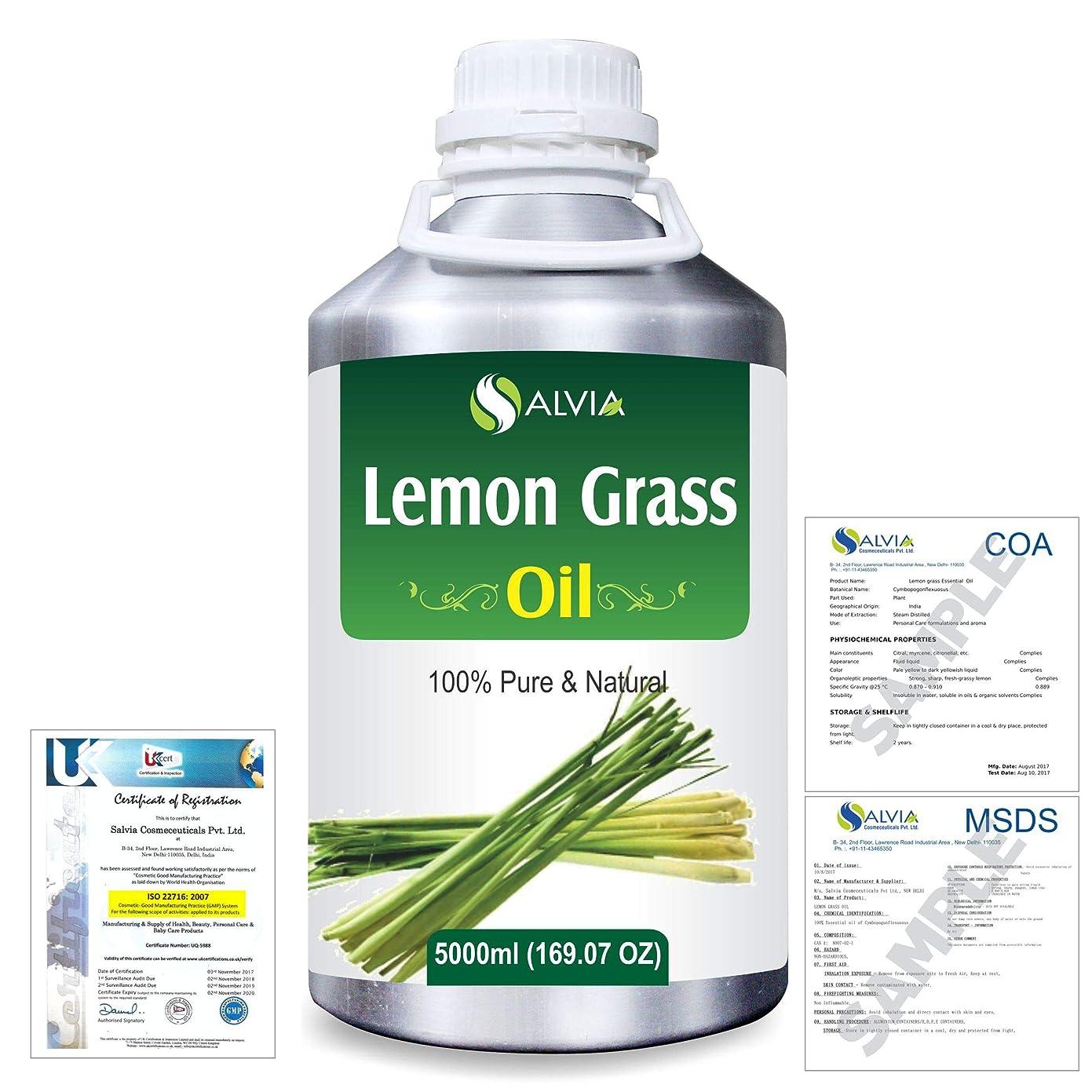 不足今ファームLemon Grass (Cymbopogon citrates) 100% Natural Pure Essential Oil 5000ml/169fl.oz.