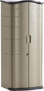 Rubbermaid Roughneck Storage Shed, Small Vertical, Brown