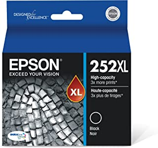 EPSON T252 DURABrite Ultra Ink High Capacity Black Cartridge (T252XL120-S) for select Epson WorkForce Printers