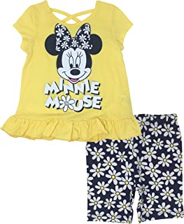 7ff40ed1c7187 Disney Minnie Mouse Baby Infant Toddler Girls' T-Shirt & Bike Shorts Set