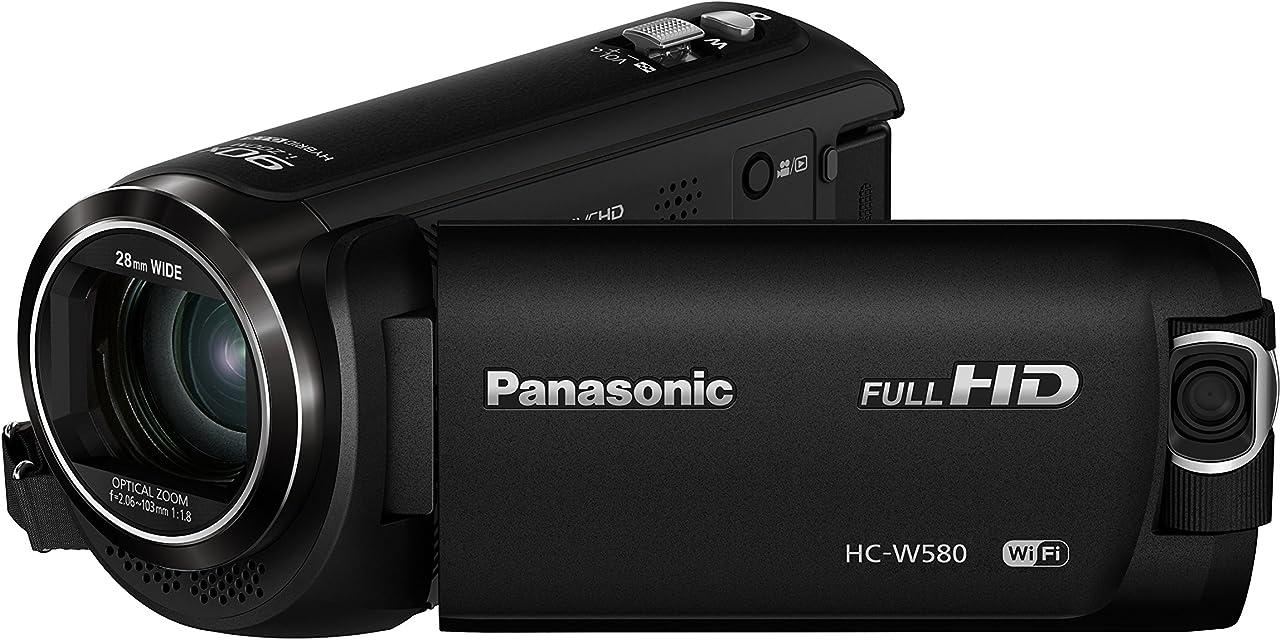 Panasonic HC-W580 - Videocámara de 50x O.I.S de 5 Ejes F1.8 - F4.2 Zoom 28 mm - 1740 mm HD HDR SD Time-Lapse Zoom 90x Inteligente Color Negro