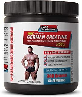 Muscle Enhancer Supplements - German CREATINE - 100% Pure MICRONIZED CREATINE MONOHYDRATE - German creatine Powder - 1 Can...