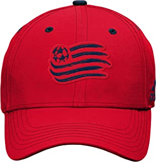 Tonal Logo Structured Adjustable Hat, Red, Youth Boys 1 Size, New England Revolution