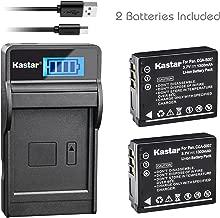 Kastar Battery (X2) & SLIM LCD Charger for Panasonic CGA-S007, CGA-S007A, CGR-S007, CGAS007 and Panasonic DMC-TZ1 DMC-TZ2 DMC-TZ3 DMC-TZ4 DMC-TZ5 DMC-TZ11 DMC-TZ15 DMC-TZ50 Digital Camera