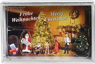 Preiser 10652 Merry Christmas Santa, 4 Figures & Tree HO Model Figure