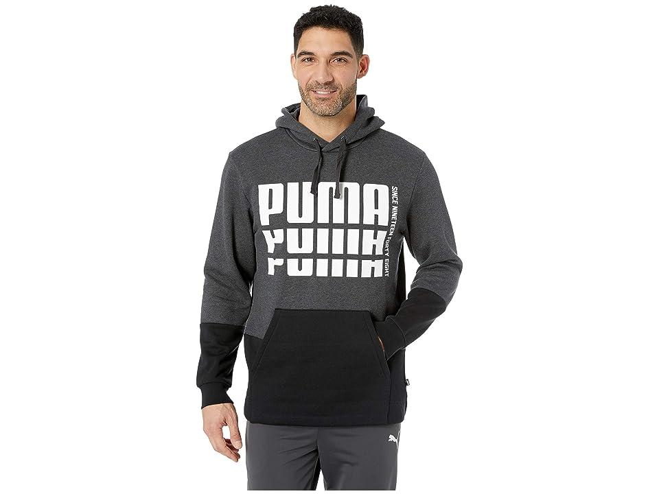 PUMA Rebel Up Hoodie Fleece (Dark Grey Heather) Men