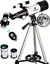 Gskyer Telescope, 70mm Aperture 400mm AZ Mount Astronomical Refracting Telescope for Kids Beginners - Travel Telescope wit...