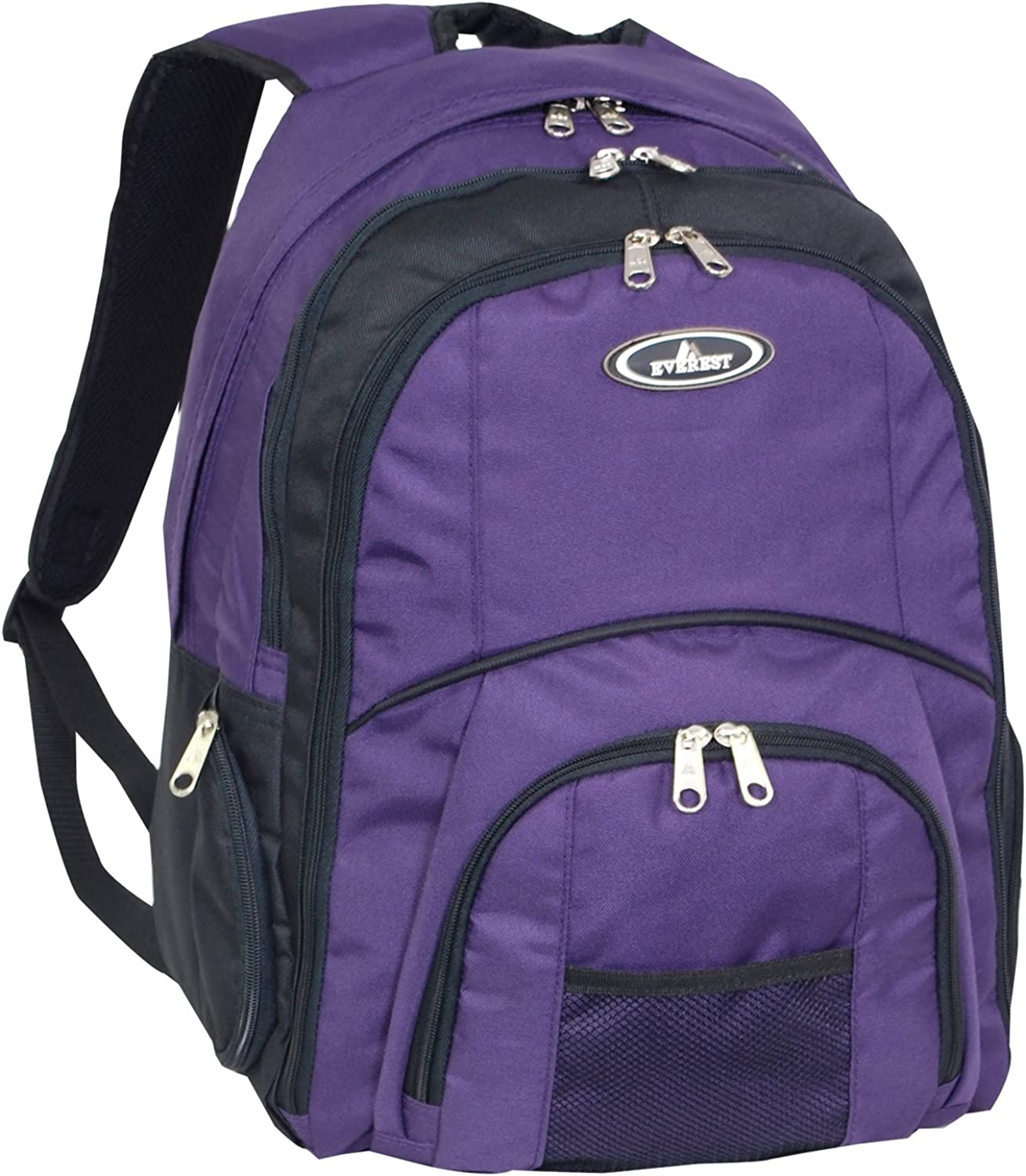 Everest Laptop Computer Backpack, Eggplant Purple, One Size
