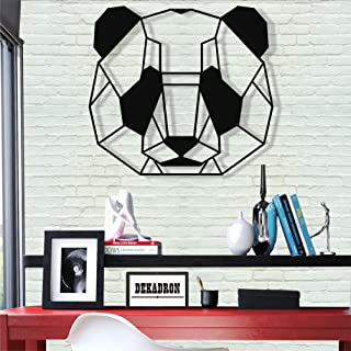 DEKADRON Metal Wall Art - Panda - 3D Wall Silhouette Metal Wall Decor Home Office Decoration Bedroom Living Room Decor Sculpture (24
