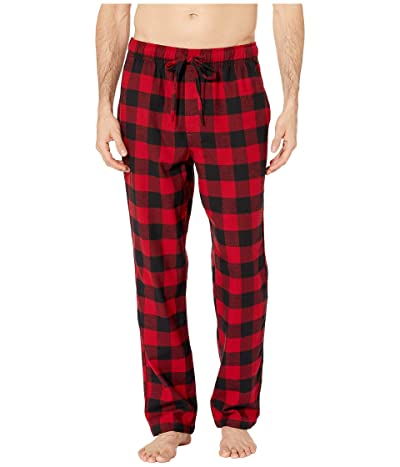 J.Crew Flannel Lounge Pant in Buffalo Check (Buffalo Check Red) Men