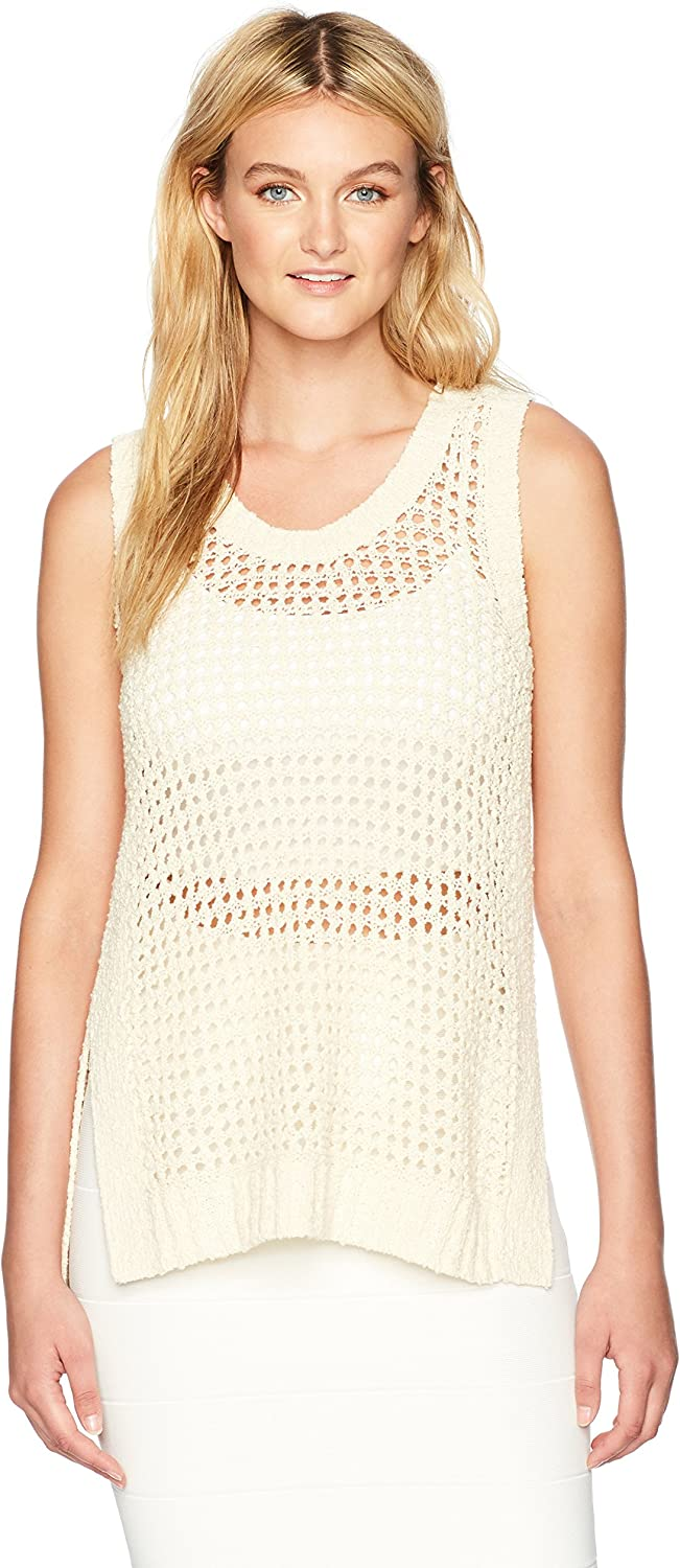 BCBGMAXAZRIA Womens Sandi HighLow Knit Sportswear Tank Tank Top Cami Shirt