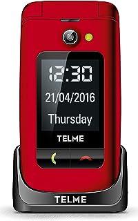 EMPORIA TELME GSM med 3 Snabbvalsknappar, Röd