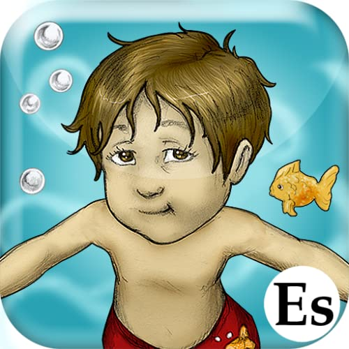 Luca Lashes has his First Swimming Lesson (Spanish)