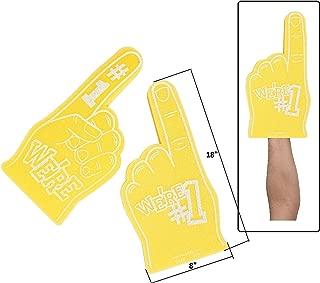 School Spirit Yellow Foam Hands (8