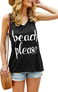 Beautife Womens Tank Tops Summer Sleeveless Casual Crewneck Funny Short Tee T Shirt