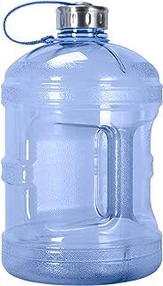 Geo Sports Bottles 1 Gallon (128oz) BPA Free Reusable Leak-Proof Drinking Water Bottle w/48mm Stainless Steel
