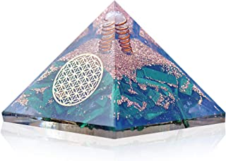 Orgonite Crystal Malachite Pyramid – Positive Energy Crystals Promote EMF Protection and Chakra Healing to Enhance Spiritual Growth and Visionary Powers