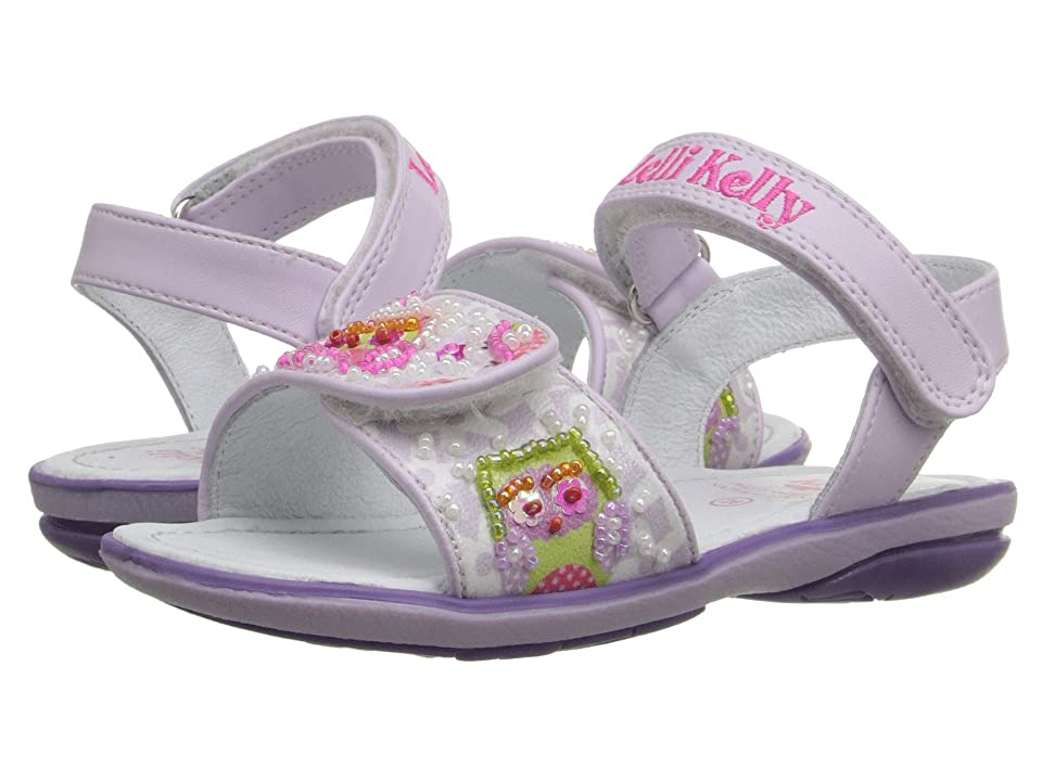 Lelli Kelly Kids Owls Sandal (Toddler/Little Kid) (Lilac Fantasy) Girls Shoes