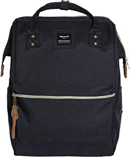 Polyester Backpack Unisex Vintage School Bag Fits 13-inch laptop Black