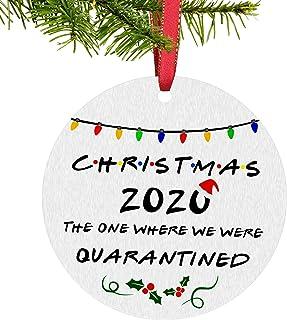 Unsttna 2020 Christmas Ornament, Funny 2020 Quarantine Ornament, Holiday Xmas Tree Decorations Ornament, Merry Christmas O...