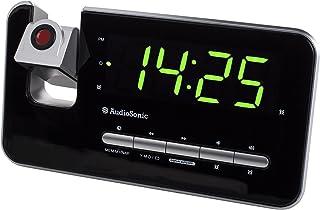 comprar comparacion Audiosonic CL-1492 – Reloj despertador con dos alarmas, radio FM, proyector
