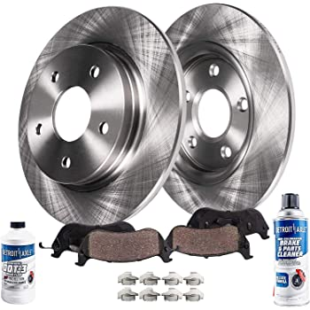 Max Brakes Front E-Coated Slotted Drilled Rotors w//Ceramic Pads Elite Brake Kit KT187081 Fits 2013-2015 Mazda CX-5