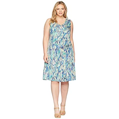 NIC+ZOE Plus Size Mirage Twist Dress (Multi) Women