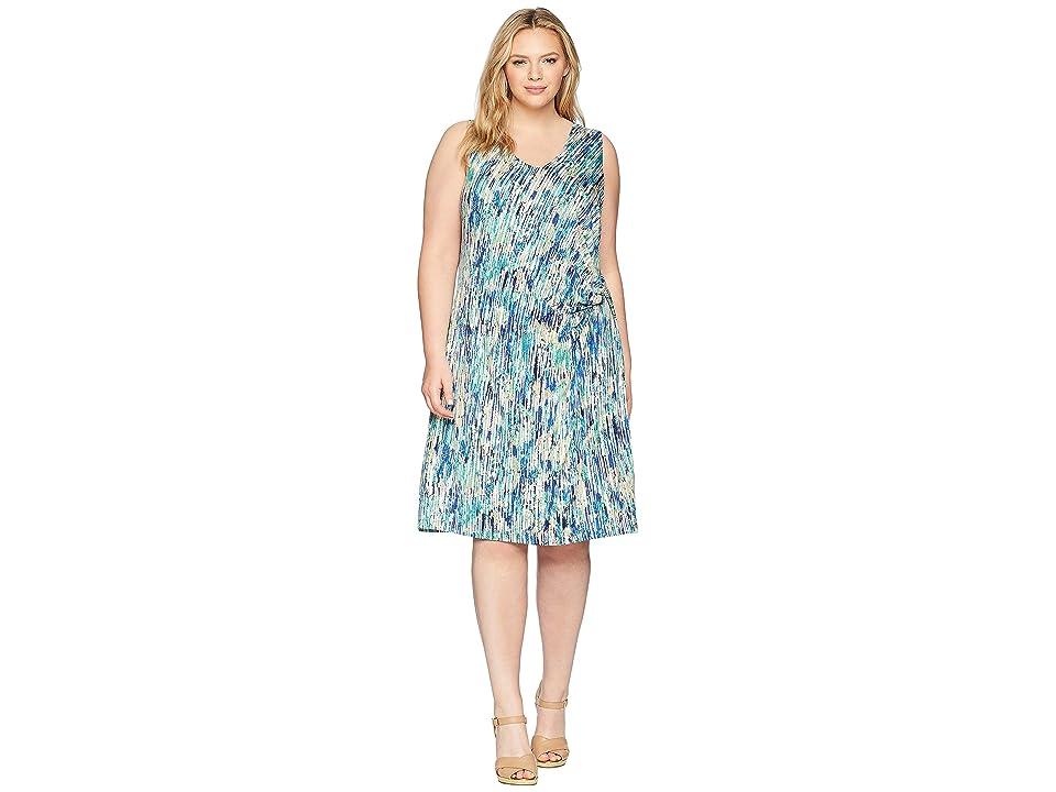 NIC+ZOE Plus Size Mirage Twist Dress (Multi) Women