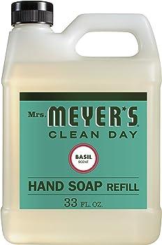 Mrs. Meyers Liquid Hand Soap Refill Basil Scent 33-Ounce