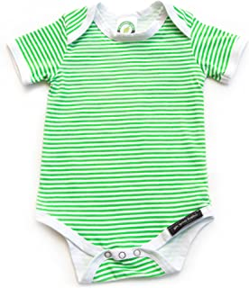 Ah Goo Baby Lollipop Onesie One Piece Bodysuit, 100% Organic Cotton, Green