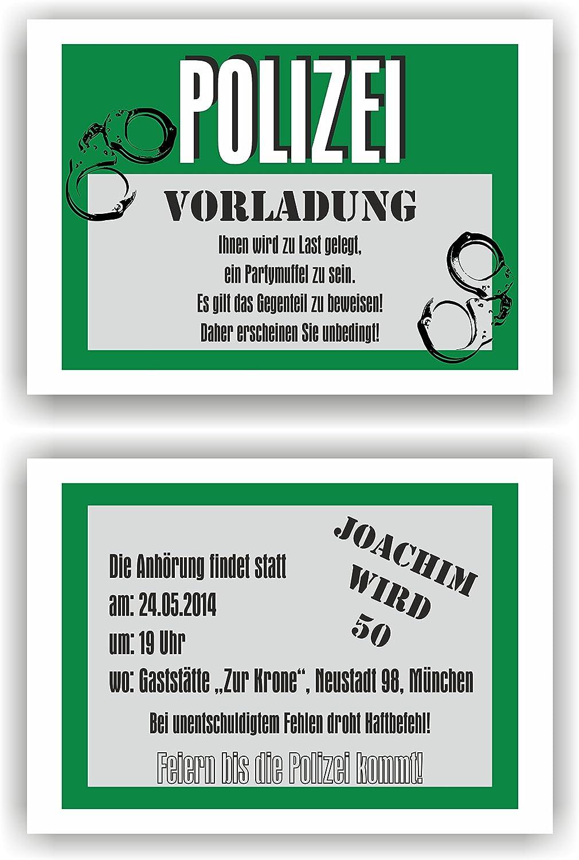Einladung Geburtstag Geburtstag Geburtstag Polizei l Einladungskarten Vorladung Fun Spaß lustig (40 Stück) B06XC1JMFV | Rabatt  | Modisch  | Gewinnen Sie das Lob der Kunden  935b5c