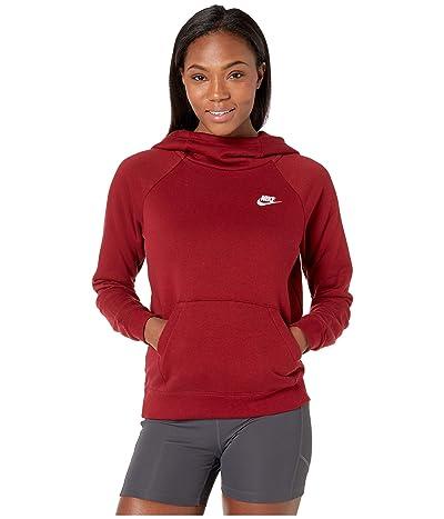 Nike NSW Essential Funnel Pullover Fleece (Team Red/White) Women