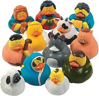 Fun Express Christmas Nativity Scene Rubber Duckie Ducky Duck Toy (12 Piece)