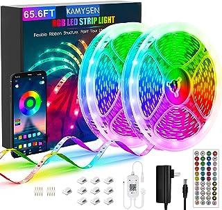 KAMYSEN 20M Tira LED de Bluetooth,5050 65.6 ft / 20 meter Luz LED RGBW Tira de luces LED,Sincronizar con Music Iluminación...