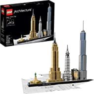 LEGO Architecture New York City 21028, Build It Yourself New York Skyline Model Kit for Adults...