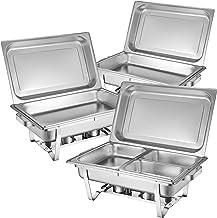Zelsius plat-réchaud Set professionnel Montpellier, 3 x acier inoxydable de maintien au chaud, 21 pièces Chafing Dish GN, ...